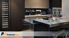 ظاهر جدید آشپزخانه با لمینام و گلاس در سال 2020